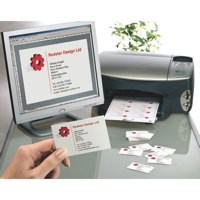 Avery Quick And Clean Laser and Inkjet Business Card 85x54mm White Pack of 25 Sheets C32011-25