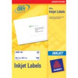 Avery QuickDRY Inkjet Label 63.5x33.9mm 24 per Sheet Pack of 25 J8159-25