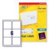 Avery QuickDRY Inkjet Label 99.1x93.1mm 6 per Sheet Pack of 25 J8166-25