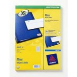 Avery Mini Inkjet Label 25.4x10mm 189 per Sheet Pack of 25 J8658-25
