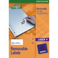Avery Removable Laser Label 12 per Sheet Pack of 25 L4743REV-25 (FPC)