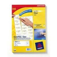 Avery Clear Inkjet Label 99.1x34mm 16 per Sheet Pack of 25 J8562-25