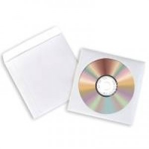 Avery Paper CD/DVD Sleeve XL Window White