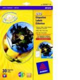 Avery Full Face Inkjet DVD Optimised Filmic Label White C9780-15 Pack of 15