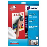 Avery Write and Wipe A4 Sheets White Pack of 5 24902