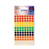Avery Packet of Labels Diam.8mm Assorted Ref 32-291 [416 Labels]