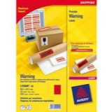 Avery Printable Warning Label 99.1x67.7mm Pack of 25 L7990-25