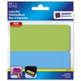 Avery Removable Label Pad 2x4 inches Green/Blue 8315