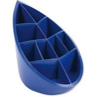 Avery DTR Eco Pen Pot 10 Compartments Leaf Design W100xD180xH119mm Blue Ref DR450BLUE