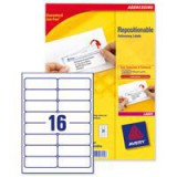 Avery Repositionable Address Label 16TV White Pack of 100 L7962-100