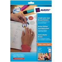 Avery Create Your Own Round Sticker Pack of 8 E3613