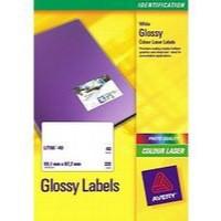 Avery Laser Label 99.1x67.7mm 8 per Sheet White Pk 40 L7765-40