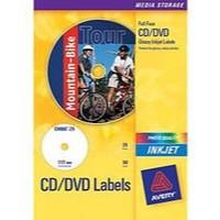 Avery Photo Glossy Inkjet CD/DVD Label 2TV Pk 25 White C9660-25
