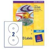 Avery Inkjet Clear CD/DVD Label 2TV Pack of 25 J8570-25