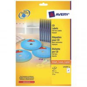 Avery CD DVD Laser Labels Face Pk25 L7676
