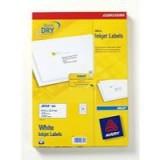 Avery QuickDRY Inkjet Label 64x34mm 24 per Sheet 24TV Pack of 100 White J8159-100