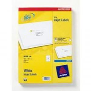Avery QuickDRY Inkjet Label 99.1x93.1mm 6 per Sheet 6TV Pack of 100 White J8166-100