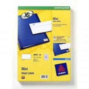 Avery Mini Inkjet Address Label 65TV per Sheet Pack of 100 White J8651-100