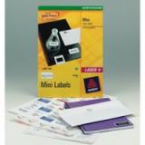 Avery Laser Mini Label 45.7x25.4mm 40 per Sheet Pack of 25 White L7654-25 (FPC)