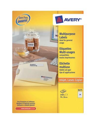 Avery Copier Label 70x36 White DPS24-100
