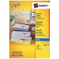 Avery QuickDRY Inkjet Label 63.5x38.1mm 21 per Sheet Pk 100 J8160-100