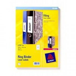 Avery Filing Labels Laser for Ring Binder 18 per Sheet 100x30mm Ref L7172-25 [450 Labels]