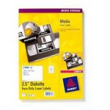 Avery Laser Label 3.5 inch Diskette 70x52mm Pack of 25 L7666-25