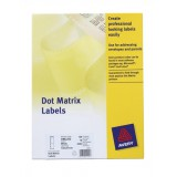 Avery Dot Matrix Labels One Wide on Web 102x49mm Ref OML103 [750 Labels]