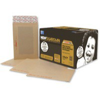 New Guardian Envelopes Heavyweight Board-backed Window Peel and Seal Manilla C4 [Pack 125]
