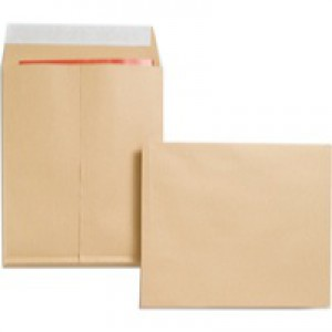 New Guardian Envelopes Heavyweight Peel and Seal Gusset 25mm 130gsm Manilla 305x250mm [Pack 100]
