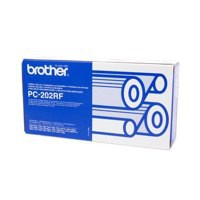 Brother Fax Ribbon Page Life 840pp Black Ref PC202RF [Pack 2]