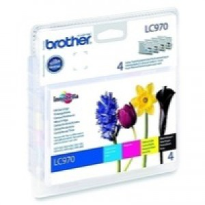 Brother LC-970 Inkjet Cartridge Value Pack CYMK LC970VALBP