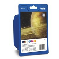 Brother LC-1100 Inkjet Cartridge Rainbow Pack LC1100RBWBP