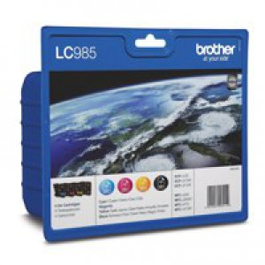 Brother LC-985 Inkjet Cartridge Rainbow Pack LC985RBWBP