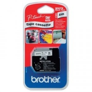 Brother P-Touch Tape 9mm Black/White M-K221BZ