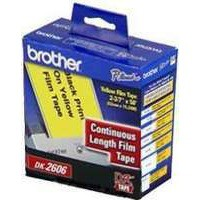 Brother QL Continuous Film Tape 62mm Yellow DK22606