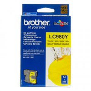 Brother LC-980 Inkjet Cartridge Yellow LC980Y