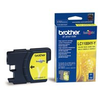 Brother LC-1100 Inkjet Cartridge High Yield Yellow LC1100HYY
