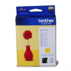 Brother Inkjet Cartridge Yellow LC121Y