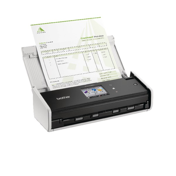 Brother White ADS-1600W Wireless Compact Document Scanner ADS1600WZU1