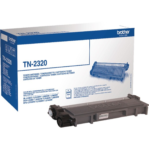 Brother Black High Yield Laser Toner Cartridge TN2320