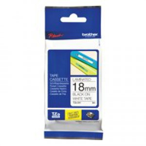 Brother P-Touch Tape 18mm Black/White TZE241