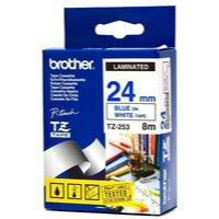 Brother P-Touch TZe Tape 24mm Blue/White TZE253