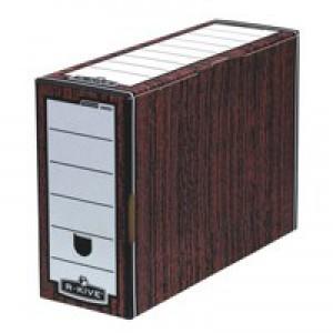 Fellowes Bankers Box Premium Transfer File Woodgrain