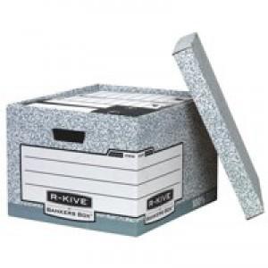 Fellowes R-Kive System Storage Box Grey (Pk 10) 01810