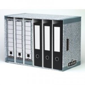 R-Kive System File Store Module W580xD290xH380mm Grey Ref 01880 [Pack 5]