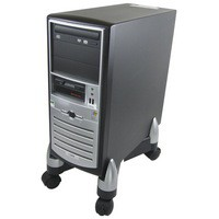 Fellowes Office Suites CPU/Shredder Stand Black/Silver 8039001