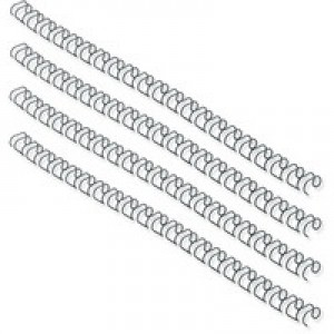 Fellowes Wire Binding Element 14.3mm Black Pack of 100 53277