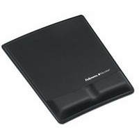Fellowes Professional Fabric Mouse Pad Wrist Rest Microban Cushioned Black Ref 9181201