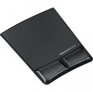 Fellowes Crystal Mouse Pad/Wrist Support Black 9182301